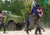 В Пржевальском прошла реконструкция первого партизанского боя