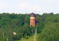 Старинная водонапорная башня сгорела под Смоленском