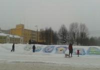 Горка в центре Смоленска стала разноцветной