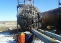 На нефтеперегонном заводе под Смоленском горели цистерны
