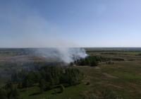 Смоленские спасатели опубликовали видео пожара, снятое с квадрокоптера