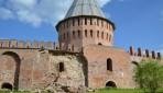 В Смоленске обвалилась часть крепостной стены
