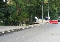 На Большой Советской провалилась часть пешеходной дороги