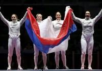 Российские саблистки победили в финале командного турнира Олимпиады в Рио
