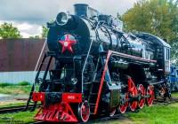 Новый памятник-паровоз установили в Рославле