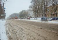 Из-за снегопада грузовики не пускают в Смоленск