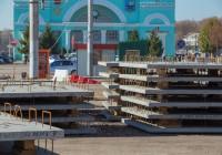 На привокзальной площади в Смоленске ремонтируют трамвайные пути