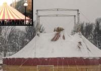 Из-за снега в Смоленске обрушился купол цирка в Лопатинском саду