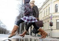 В четверг в Смоленск придут мокрый снег и слякоть