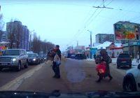 Видеорегистратор записал благородный поступок смоленского водителя