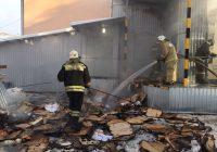 «Пятерочка», въехавшая в ДК глухих в Смоленске, загорелась