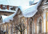 На улицах Смоленска возможно падение снега с крыш