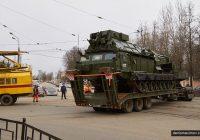 В Смоленске приподнимают провода, чтобы проехал Giant/Gladiator