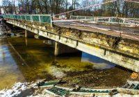 На Смоленском мосту в Вязьме обрушилась часть перил