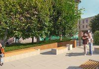 Горожане предложили реконструировать сквер у «Спорттоваров» в дизайнерском духе