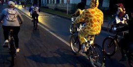 В Смоленске прошёл первый ночной велопарад: видео и фото