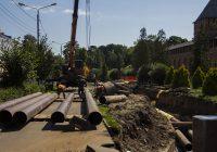 В центре Смоленска продолжаются масштабные ремонтные работы
