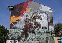 В Смоленске практически завершена работа над огромным граффити исторической тематики