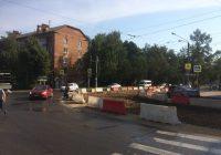 В Смоленске демонтировали трамвайные пути на улице Нахимова