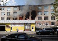 На фабрике «Шарм» пожар, есть пострадавшие