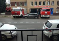 В Смоленске пожарные проучилинаглого автонарушителя