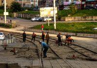 Ремонт трамвайных путей на 25 Сентября приближается к завершению