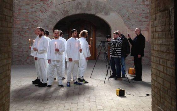 Брянская фолк-группа снимает клип во Флёнове