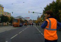 В центре Смоленска парализовано движение трамваев