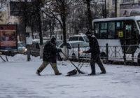 Первый снег в Смоленске: фоторепортаж
