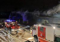 Крупный пожар произошёл в промышленной зоне Смоленска