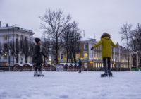 Открытые катки в Смоленске начали свою работу