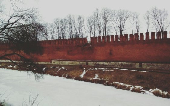 Часть Крепостной стены обрушилась вцентре Смоленска
