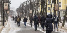 Смоленск снова засыпает снегом