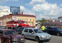 Из-за ДТП с участием пожарной машины в центре Смоленска образовалась пробка