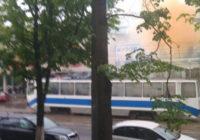 В Смоленске горел трамвай