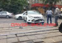 ДТП на улице Николаева парализовало движение трамваев