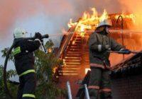 В Монастырщенском районе сгорела баня