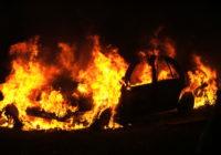 В Гагарине ночью горели три иномарки
