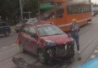 В Смоленске ДТП оставило Заднепровский район без трамваев