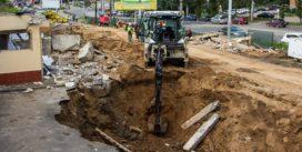 «Квадра» раскопала огромный ров на улице 25 Сентября