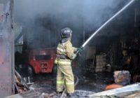 Появились подробности сегодняшнего пожара на Краснинском шоссе