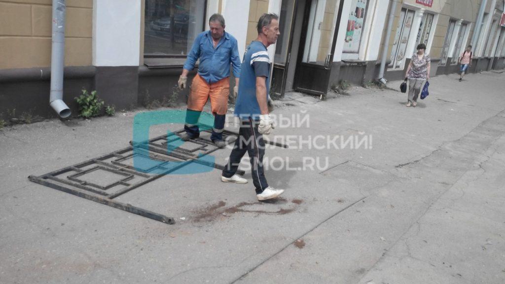 Новый забор в центре Смоленска