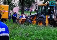 Ремонтные работы на улице Ломоносова продолжаются