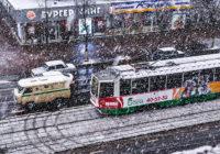 В Смоленске выпал первый снег