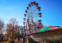 В Смоленске начались работы по демонтажу колеса обозрения