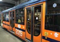 В Смоленске сломался трамвай, украшенный к Новому году