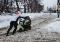 Смоленскую область накрыли снегопады