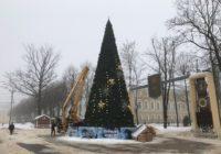 На площади Ленина в Смоленске приступили к демонтажу ёлки