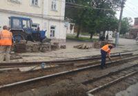 В Смоленске начался ремонт трамвайных путей на проспекте Гагарина