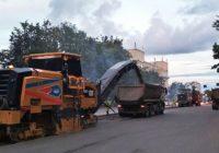 В Смоленске на проспекте Гагарина начался ремонт дорожного покрытия